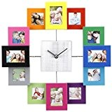 VonHaus Horloge Cadre Photos multi couleur pouvant contenir 12 photos