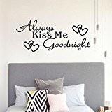 """Vovotrade """"Kiss Me Toujours Bonne nuit"""" Home Wall Sticker Décor Decal Chambre Vinyle Art Mural"""