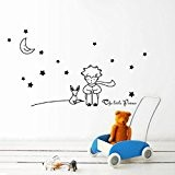 Vovotrade Stars Moon The Little Prince Boy Wall Sticker Home Decor Wall Decals(Noir)