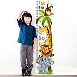 Wall Art r00219Stickers muraux pour enfants, mètre freundliche Animaux multicolore 30x 120x 0,1cm
