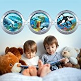 Wall Art r00285 Stickers muraux pour enfants, hublot Fond de la Mer enchanté, 98 x 30 x 0,1 cm, multicolore