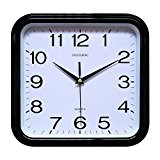 Wall Clock, Chuang Rong Radio Controlled Non ticking Silent Sweeping Seconds Quartz (168, Noir)