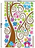 Wall Decal Stickers muraux pour chambre de bébé à motifs jungle avec lion / girafe / écureuil / chouette et ...