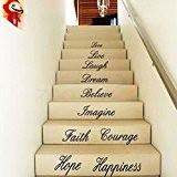 Wall Sticker Creative Love Live Wallpaper Espoir Proverbes Pour Salon Chambre Contexte Escaliers ¨¦Tanche Amovible Autocollants Home Decor Decal
