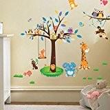 multicolore Vovotrade Animaux de la For/êt Fra/îche Hibou Chambre des Enfants Chambre /à Coucher Fond Autocollant Mural Stickers