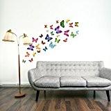 Walplus 21 jolis autocollants motif papillon pour chambre d'enfant