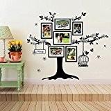 Walplus Cadre Photo Birdcage Stickers muraux, décoration, 150 cm x 100 cm, en PVC, Noir