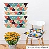 """Walplus Sticker mural 49x 25cm Stickers Muraux """"Triangles amovible en vinyle autocollant murale Art Stickers Décoration DIY Salon Chambre Décor ..."""