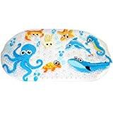 WARRAH Tapis de bain multi-usages / PVC pour tapis de bain Tapis antidérapants pour enfants et douche Octopus Fish