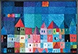 wash + dry - Tapis Colourful Houses 50x75, Coloré