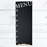 Weekly Menu Planner Blackboard (30 x 80cm) by Chalkboards UK