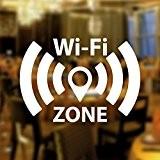 WIFI gratuit Zone Fenêtre Inscription vinyle autocollant Graphics Café Boutique Salon restaurant