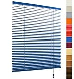 WOLTU VH5434 Stores vénitiens Aluminium,Installation rapide,translucide fix facile,25 mm lattes,60 cm X 180 cm,Bleu
