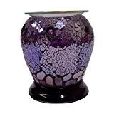 WoodWick Candles Brûleur électrique en forme de vase avec une mosaïque violette, convient pour tartelettes de cire Yankee