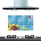 XJKLFJSIU Stickers Muraux Armoires De Cuisine En Verre Carrelage Mural De Fumées Poêle Anti-Huile Stickers Muraux,G