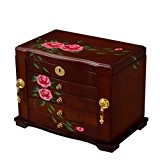 XYLUCKY Véritable bois / Wooden Jewelry Box affaire SI-5552B , b