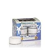Yankee Candle 1129554E Boîte de 12 Lumignons Jasmin de Minuit Combinaison Blanc 8,6 x 8,8 x 6,3 cm