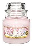 Yankee Candle Bougie en pot Parfum biscuit flocon, rose, Small