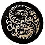 Yin yang Dragon Yoga Inner Strength Peace Patch ''7,5 x 7,6 cm'' - Écusson brodé Ecussons Imprimés Ecussons Thermocollants Broderie ...