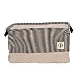 YINGMO 18×13×11 Pouces Pliant Coton Mélangé Tissu Blanchisserie Boîte de Rangement Panier Jouets