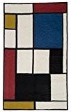 "Zaida 150 x 90 cm-laine et coton ""Mondrian'ambiance multicolore"
