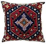 Zaida Housse de coussin 60 x 60 cm Réf Kilim en laine et coton