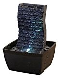 Zen'Light ONDULO Fontaine Polyrésine Noir 13 x 12 x 19 cm