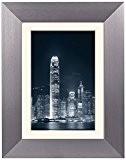 Zep AL6G10 Cadre Photo 50 x 70 cm avec Passe-Partout 40 x 60 cm Aluminium Argent Foncé