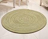 ZiXuan Superfine corde tricoté ordinateur chaise / rotin chaise panier ronde moquette / salon chambre tapis ( Couleur : 1# ...