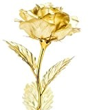 """ZJchao Rose en 24K or - Cadeau Romantique - 10"""""""