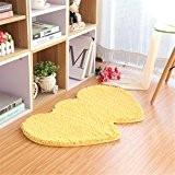 ZMZX*Accueil Simple double vaiselle forme coeur 50*80cm salle de bains cuisine d'aspiration de l'eau mariage tapis anti-dérapant Tapis de porte, ...