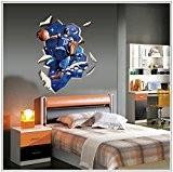zooarts So Cool basket-ball Star Howard amovible en vinyle Stickers muraux Decor Art Sticker mural Motif garçons chambre Papier peint