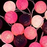 Zyurong 20 coton boule led lampes de chaîne lumière chaude pour décoration de chambre mariage fête Noël