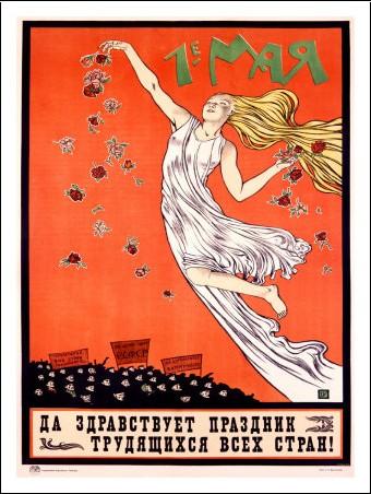 Affiche Russie 1er mai