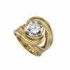 Jewelry - bague tornade or et diamant