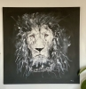 Painting - Black & White Lion