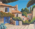 Painting - cour interieure