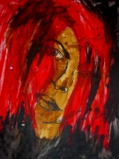 painting : femme rouge