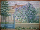 Painting - Les lilas