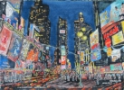Painting - Manhattan en nocturne