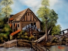 Painting - moulin a eau