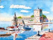 painting : Old Port of Marseille