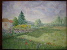 Painting - Paysage campagnarde