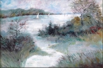 Painting - Paysage hivernal