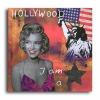 Painting - Tableau marilyn monroe usa new york statue rose