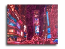 Painting - Tableau new york city times square design abstrait art