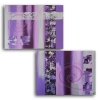 Painting - Tableau toile mauve prune rose purple contemporain moderne