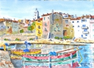 Painting - Un port corse 01 TZ 02