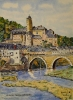 Peinture d'art - Village d'Estaing en Aveyron N° : 11 SZ 01