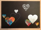 Peintures - Colored Hearts